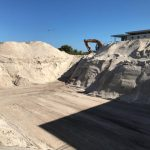 Tidy bulk sand excavation by excavator in Hillarys