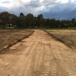 Driveway graded on rural property