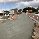 New turn off lane installed in wangara, footpath removed